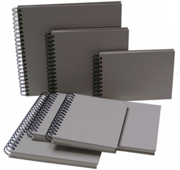 Wire-O sketchbooks, pasteboard cover, 130 gsm/60 lb paper